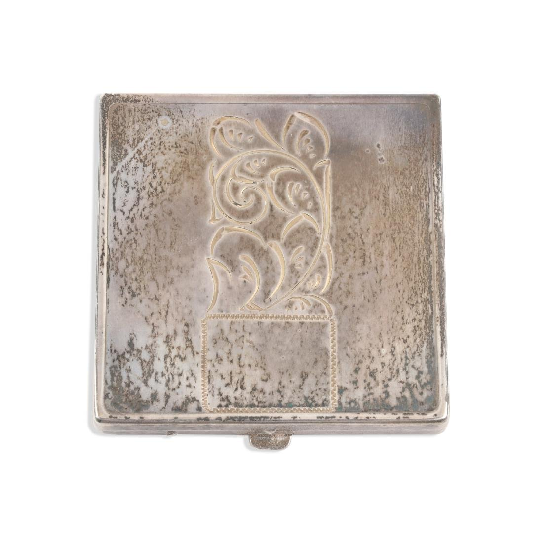 A Mid-Century Sterling Silver Compact