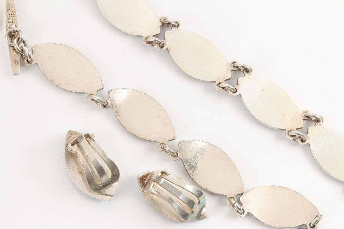 Assorted Enameled Sterling Silver Accessory Sets - 6
