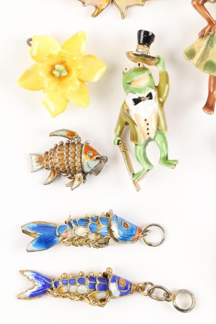 Assorted Enameled Costume Brooches - 2