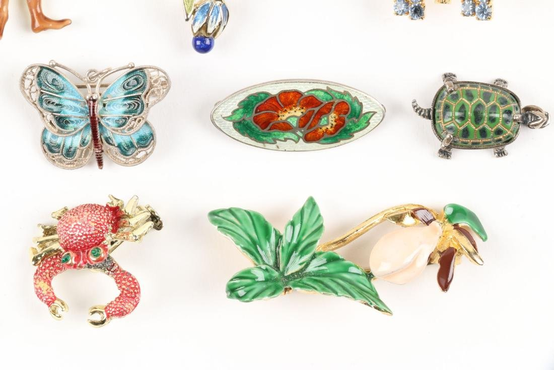 Assorted Enameled Costume Brooches - 3