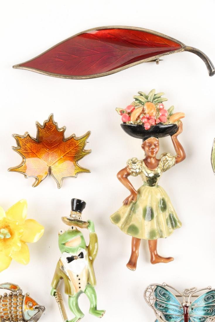 Assorted Enameled Costume Brooches - 5