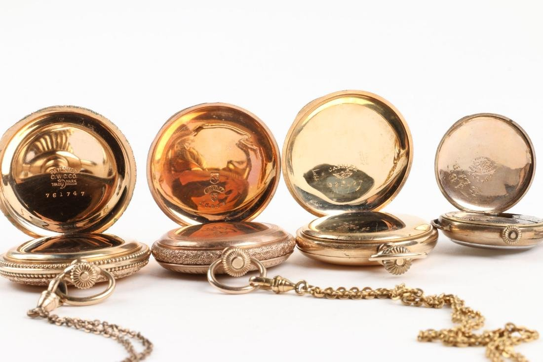 Waltham, Elgin, Lady's Pocket Watches & Chains - 10
