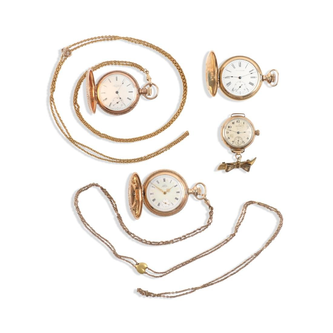 Waltham, Elgin, Lady's Pocket Watches & Chains