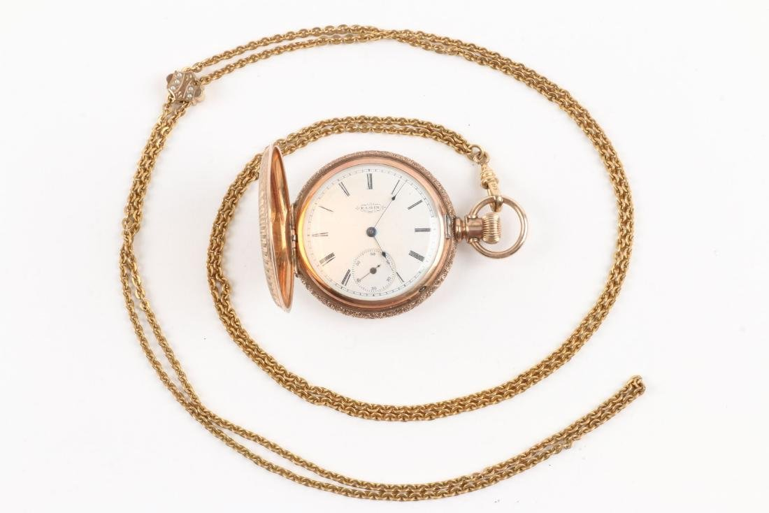 Waltham, Elgin, Lady's Pocket Watches & Chains - 2