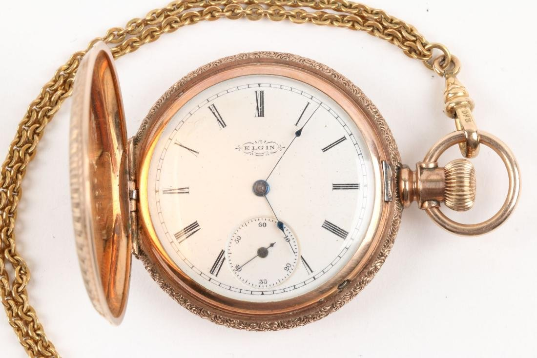 Waltham, Elgin, Lady's Pocket Watches & Chains - 3