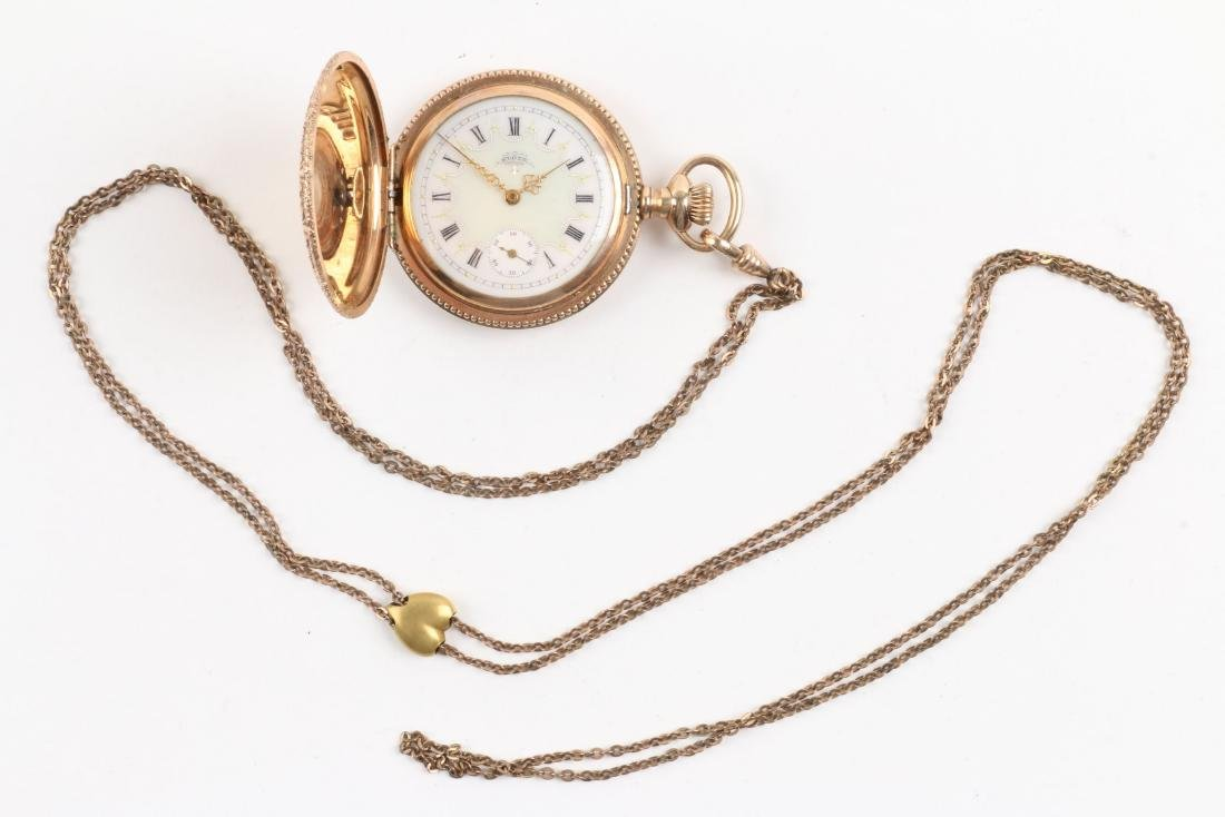 Waltham, Elgin, Lady's Pocket Watches & Chains - 4