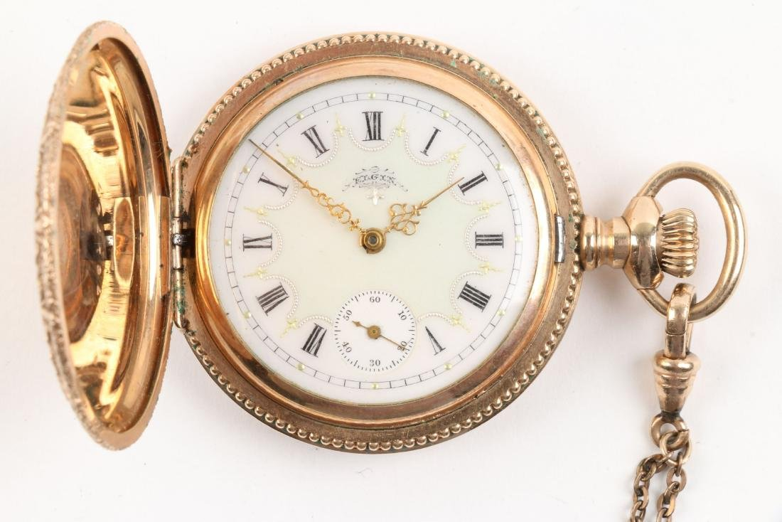 Waltham, Elgin, Lady's Pocket Watches & Chains - 5