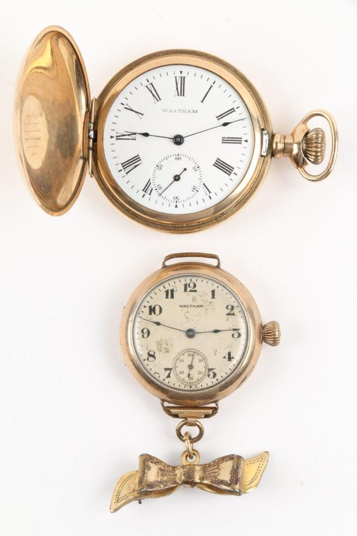 Waltham, Elgin, Lady's Pocket Watches & Chains - 6