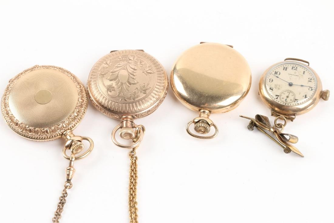 Waltham, Elgin, Lady's Pocket Watches & Chains - 8