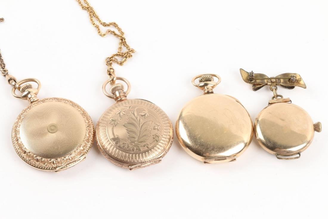 Waltham, Elgin, Lady's Pocket Watches & Chains - 9