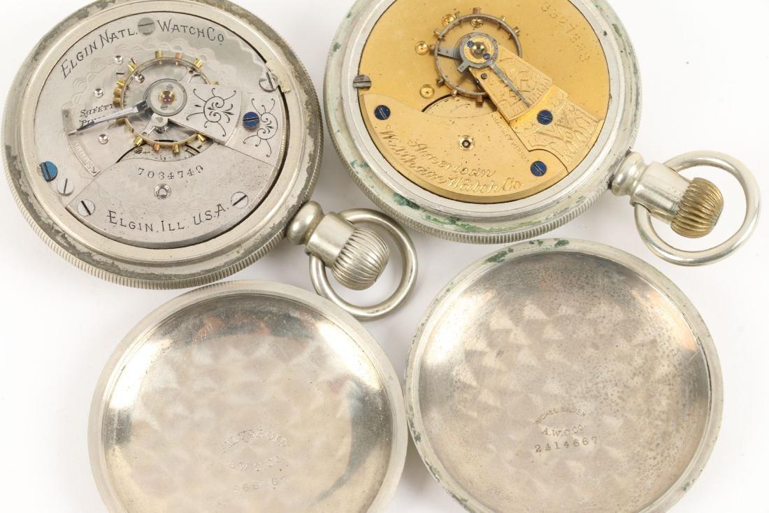 American, Elgin & Waltham Pocket Watches - 10