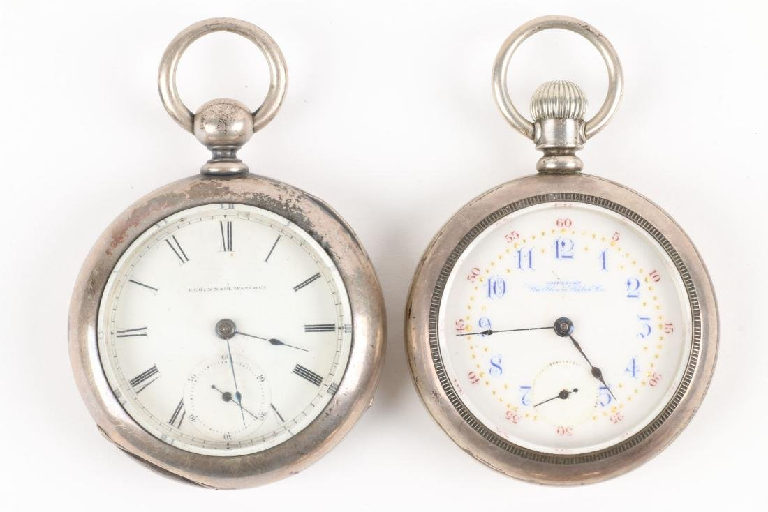 American, Gold Filled & Coin Silver Pocket Watches - 2