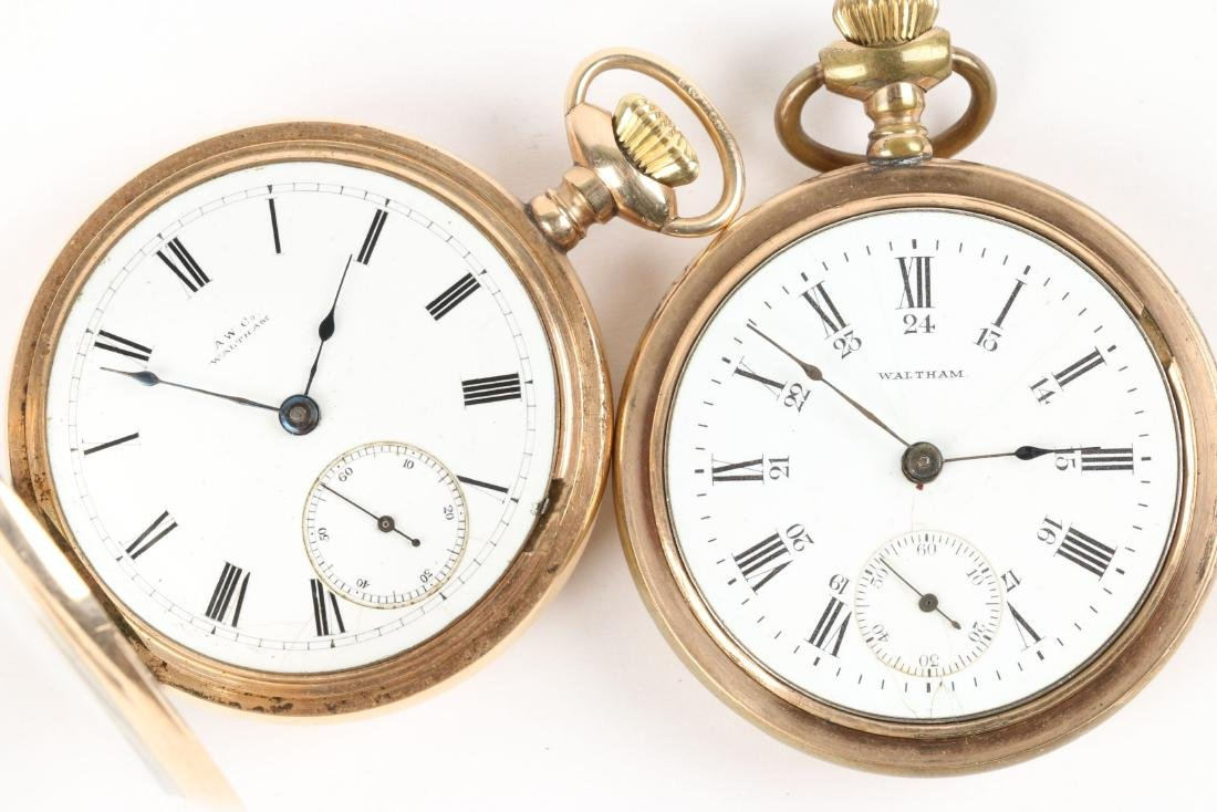 American, Gold Filled & Coin Silver Pocket Watches - 9