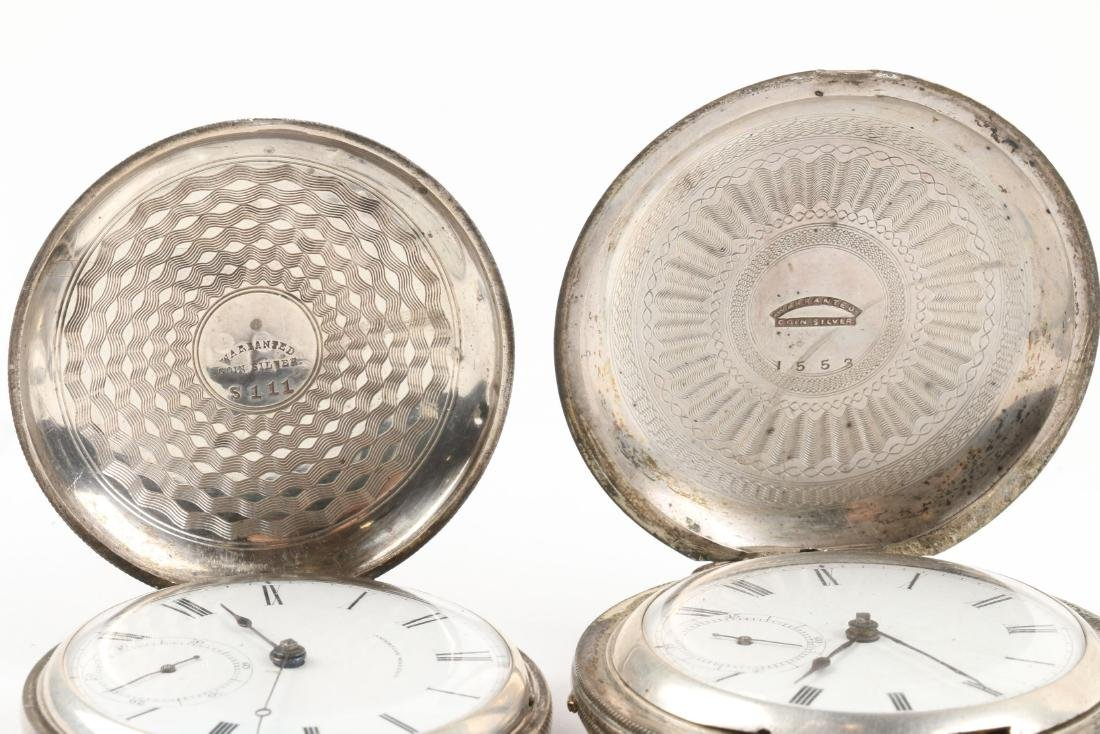 Early, American Key Wind Pocket Watches - 6