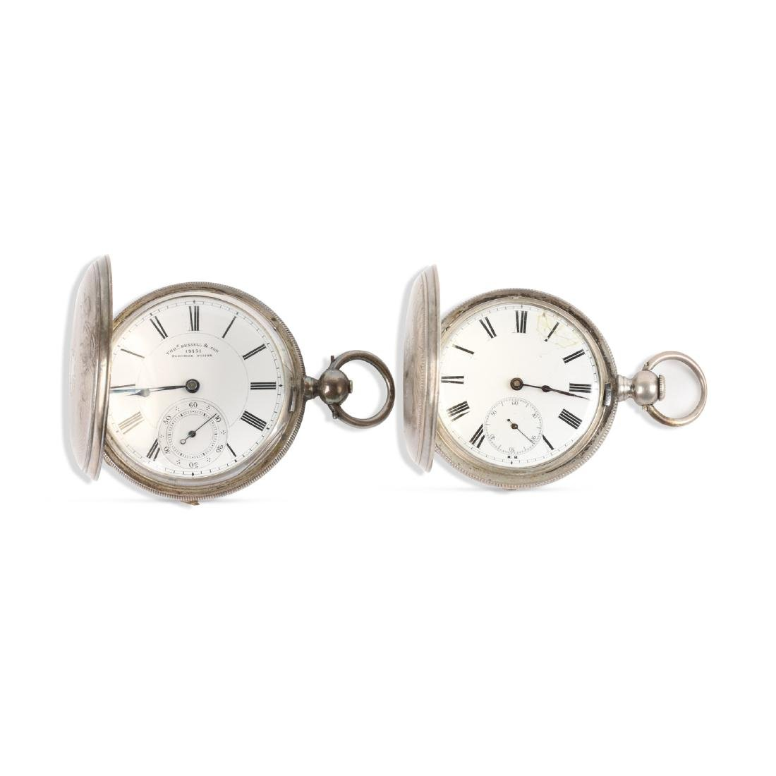 English, Sterling Silver Pocket Watches