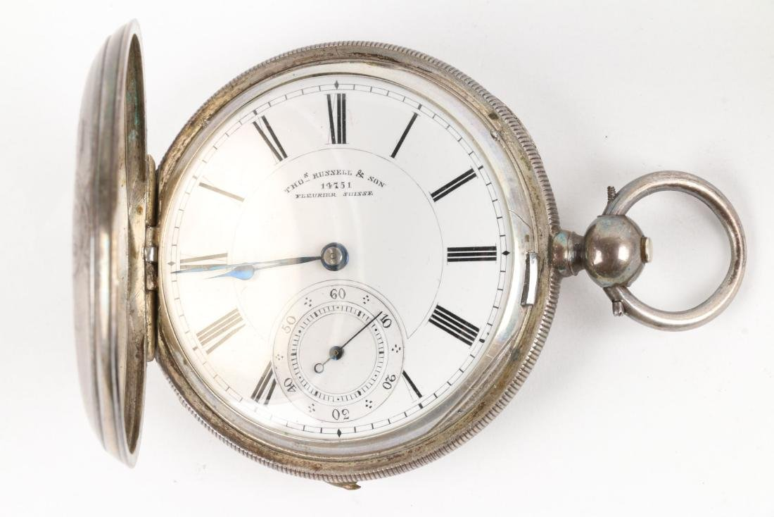 English, Sterling Silver Pocket Watches - 3
