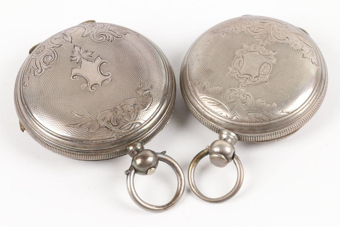 English, Sterling Silver Pocket Watches - 5
