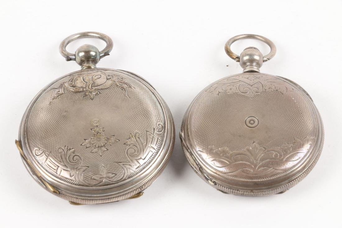 English, Sterling Silver Pocket Watches - 6