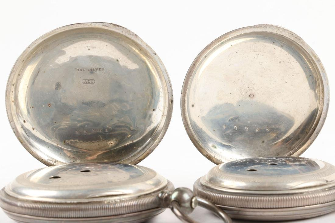English, Sterling Silver Pocket Watches - 7
