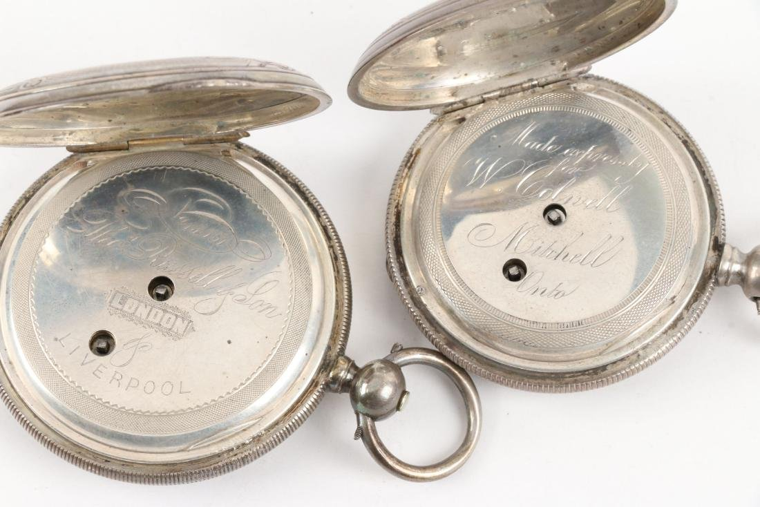 English, Sterling Silver Pocket Watches - 8