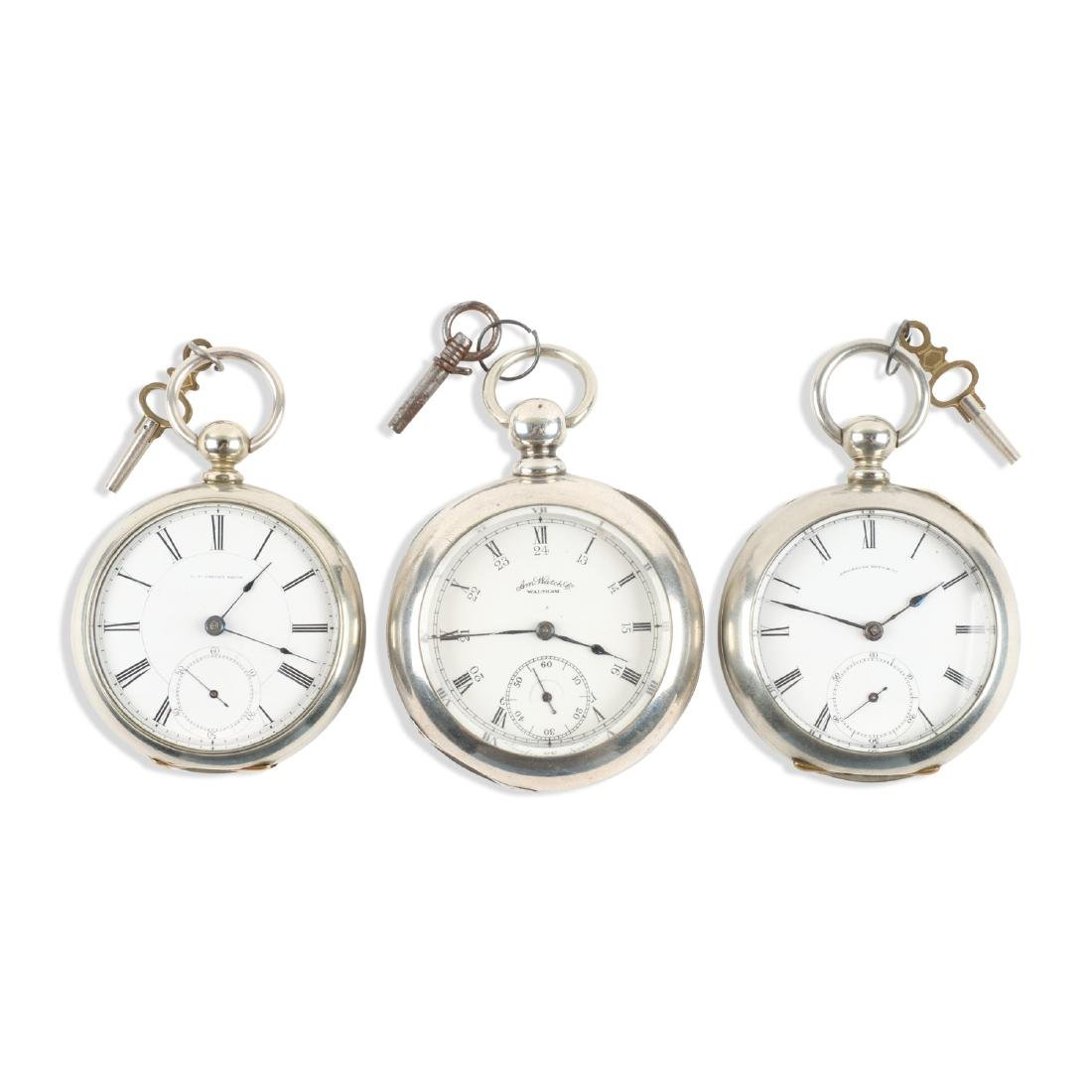 Waltham, Early Key Wind Pocket Watches