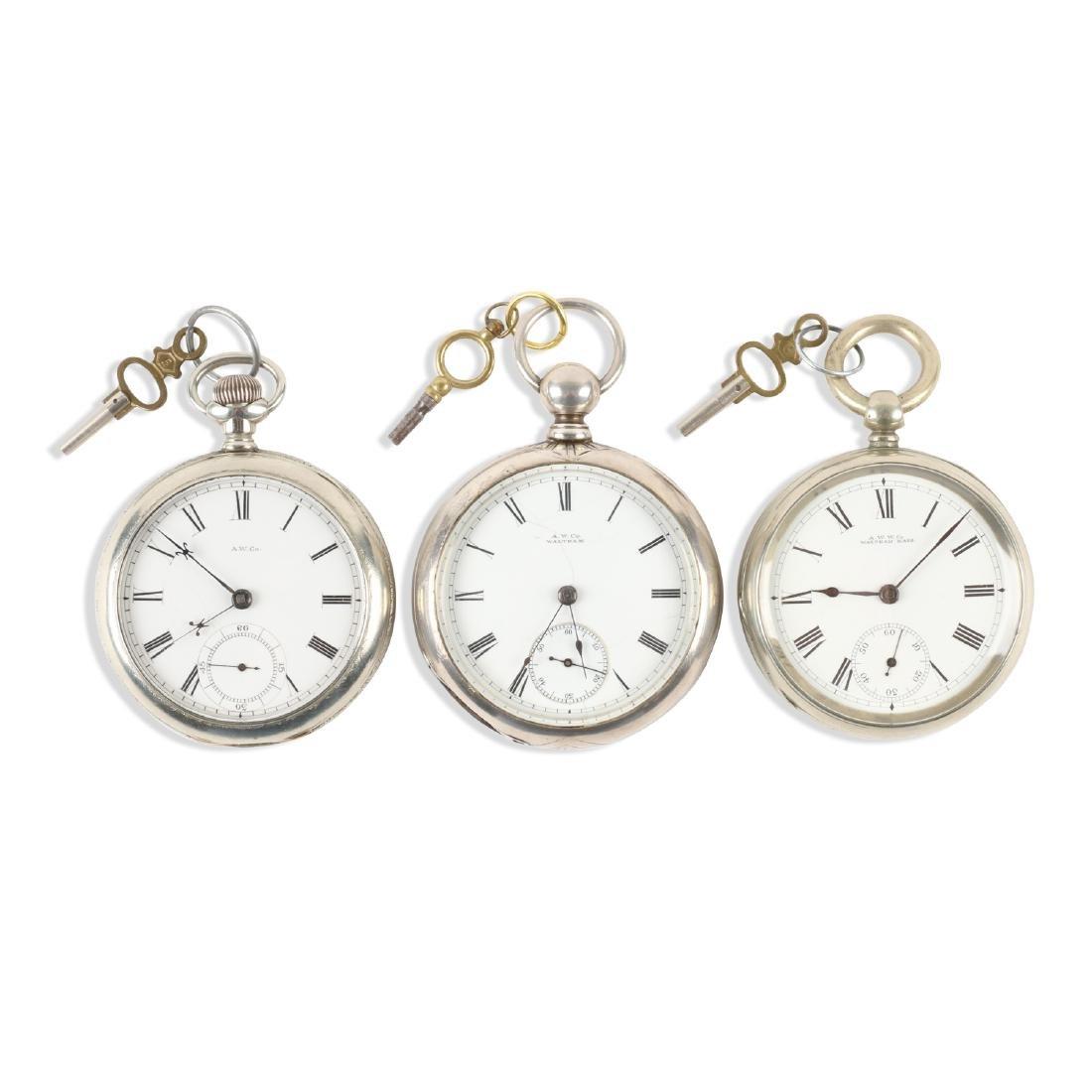 Waltham, Early Key Wind Pocket Watches