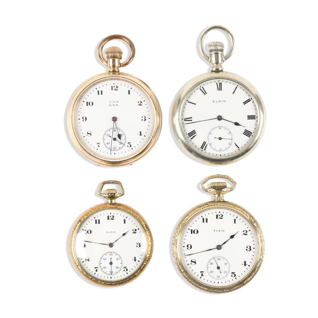 Elgin, Open Face Pocket Watches