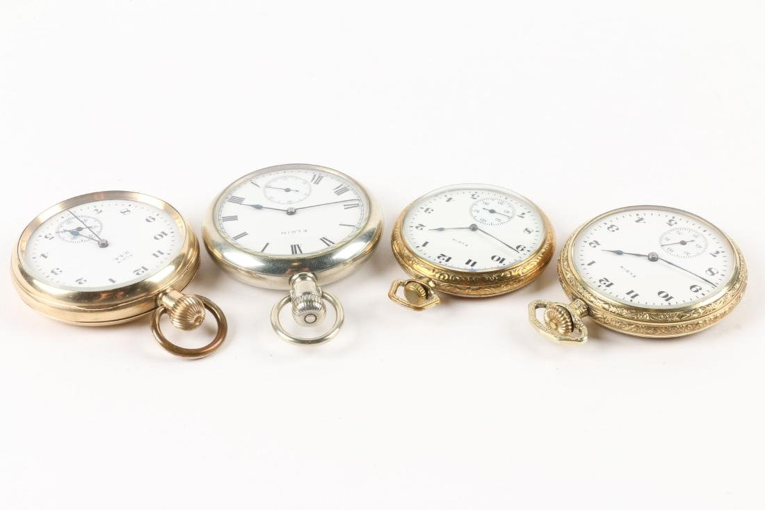 Elgin, Open Face Pocket Watches - 2