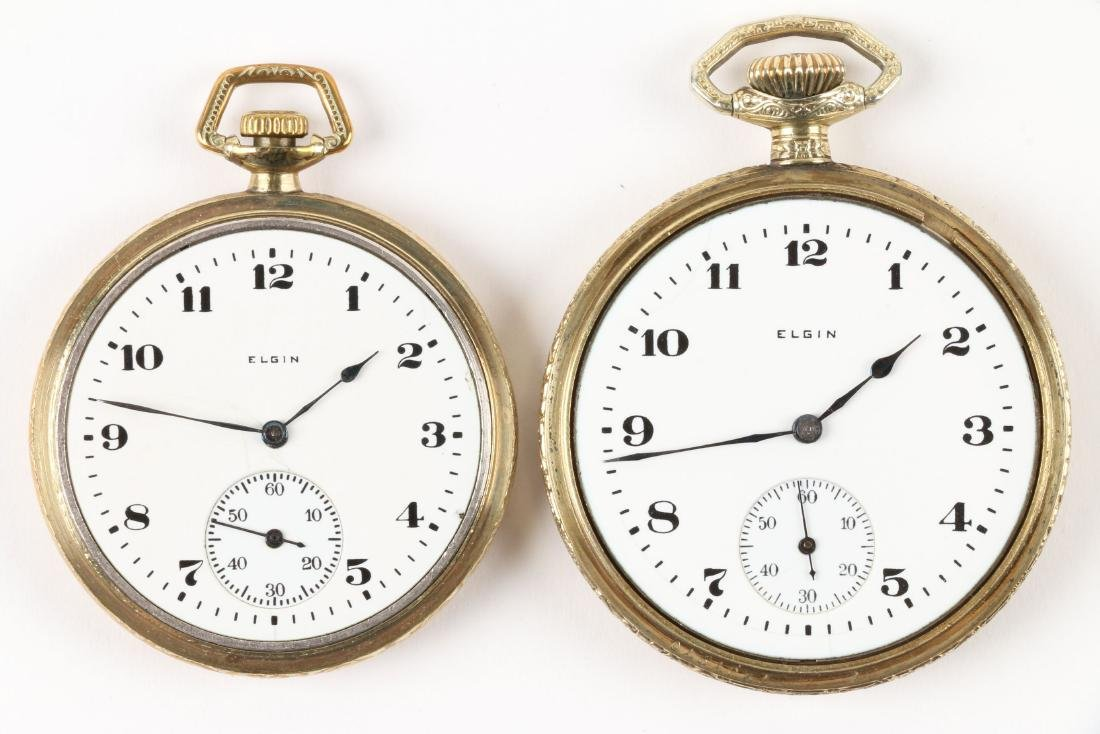 Elgin, Open Face Pocket Watches - 4