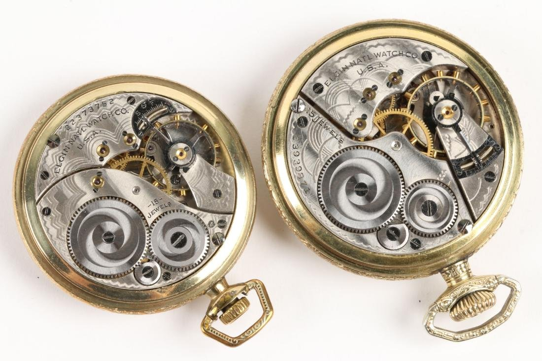 Elgin, Open Face Pocket Watches - 6