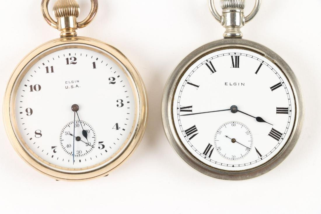Elgin, Open Face Pocket Watches - 7