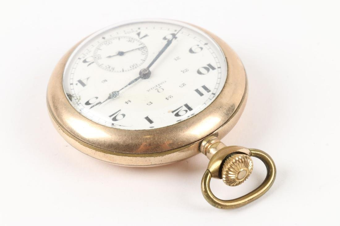 Omega, Pocket Watch & Chain - 3