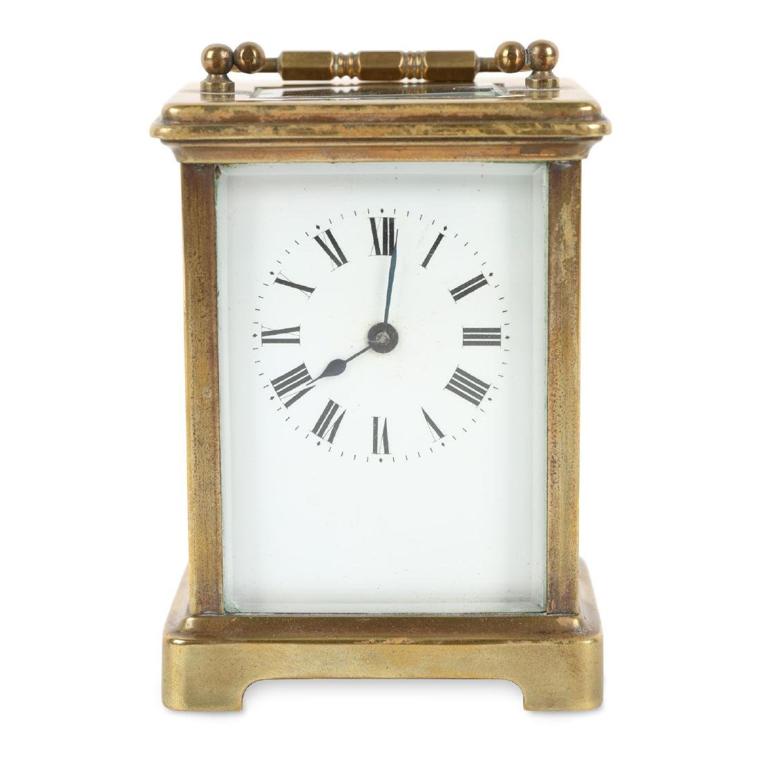 French, Brass Carriage Clock