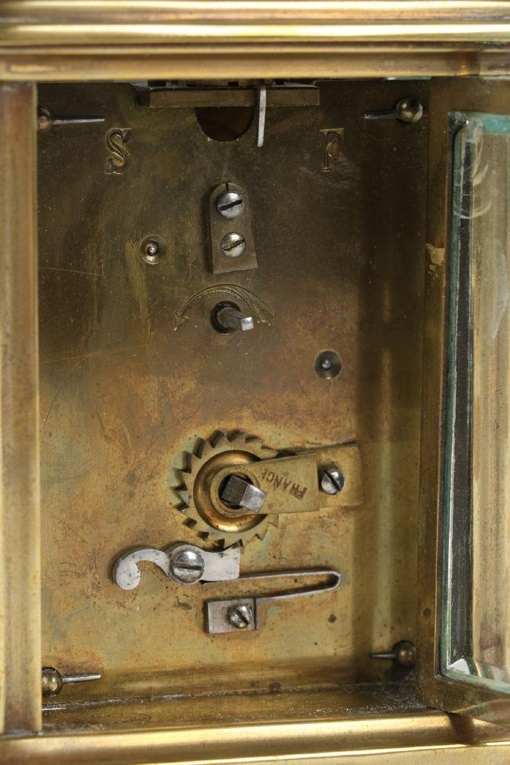 French, Brass Carriage Clock - 5