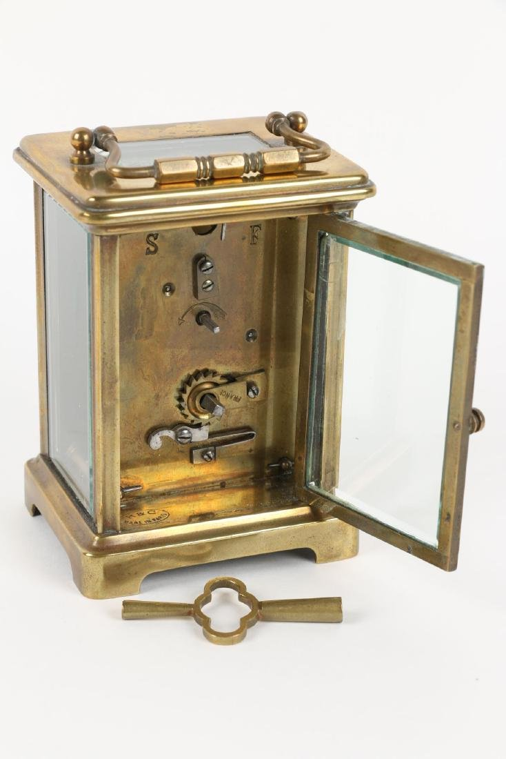 French, Brass Carriage Clock - 6