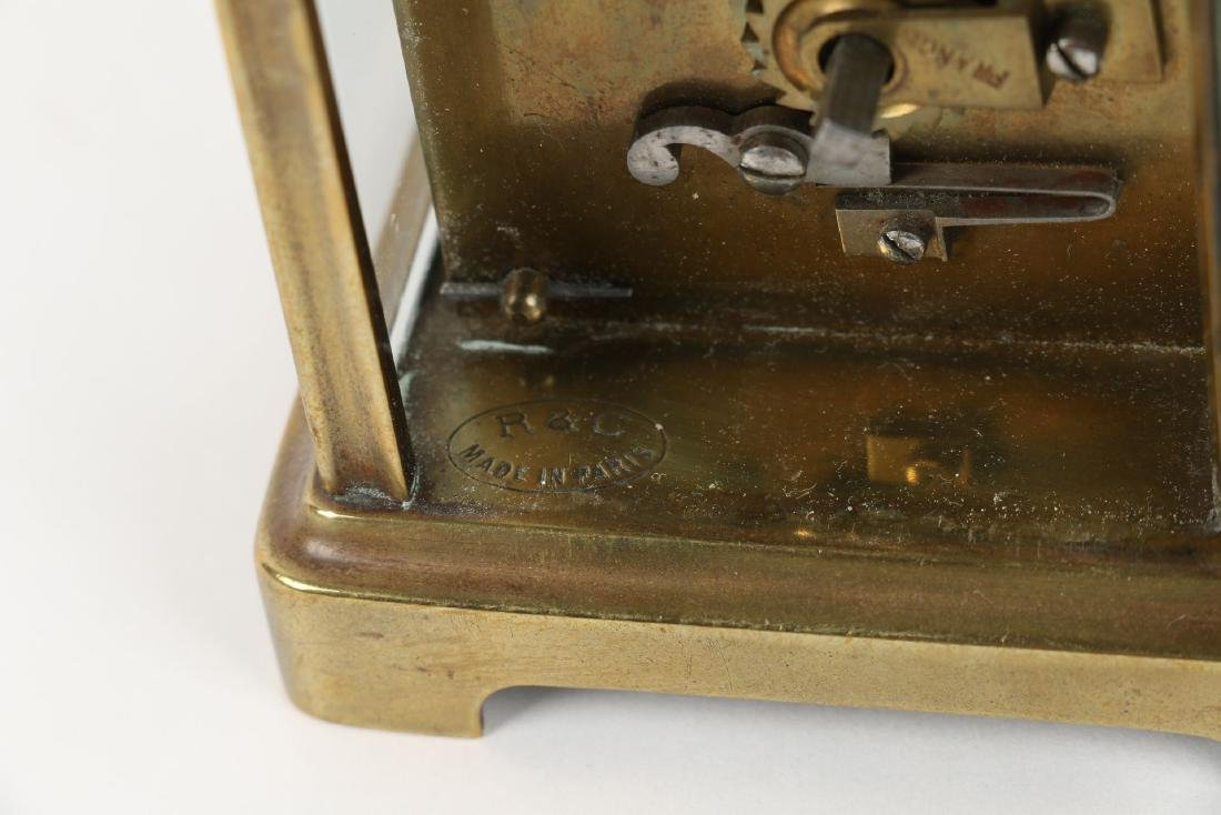 French, Brass Carriage Clock - 7