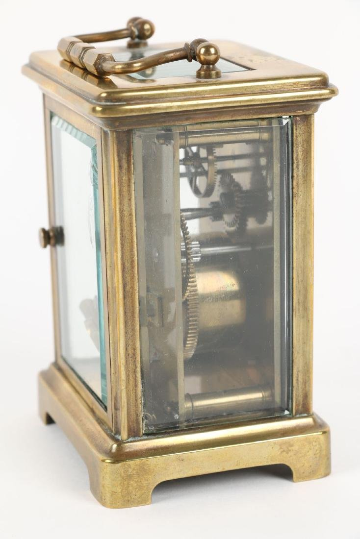 French, Brass Carriage Clock - 8