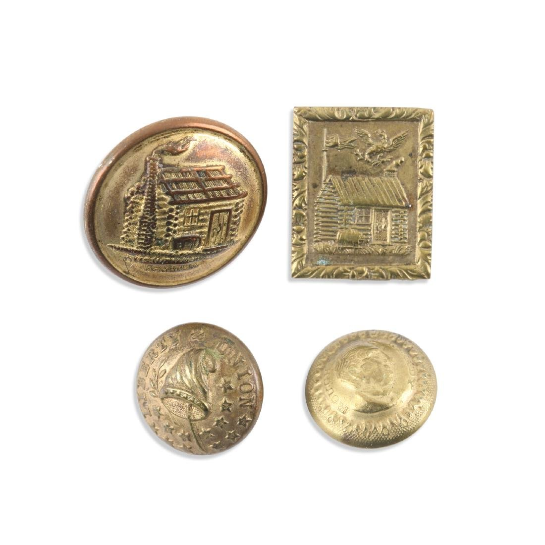 Early US Political Uniform Buttons, Pin