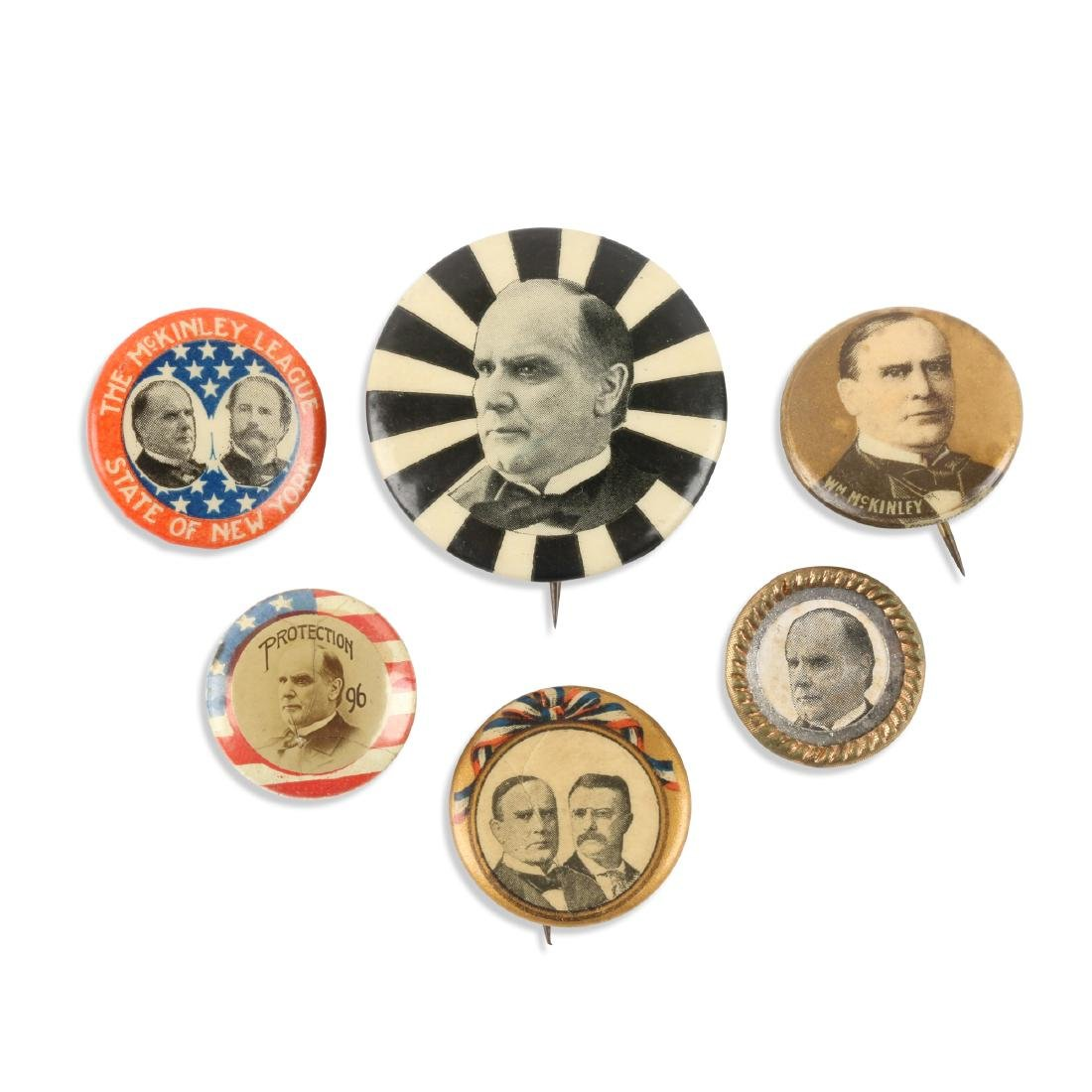 1896-1900 Political Pinbacks, Lapel Studs