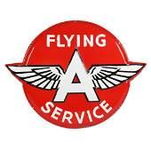 "Flying ""A"" Service Raised Porcelain Sign"