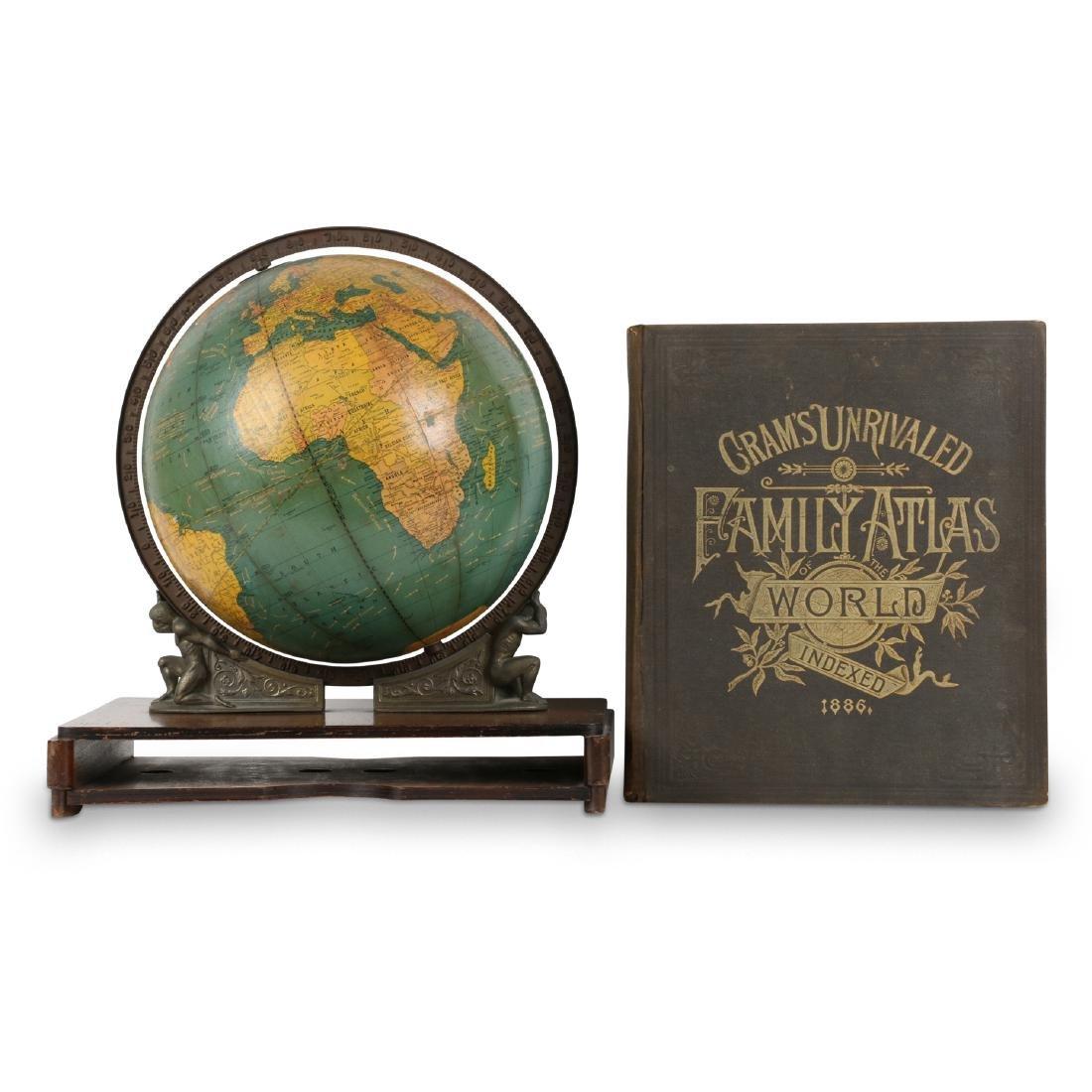 Cram S Desk Globe Atlas