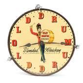 Old Drum Whiskey Clock