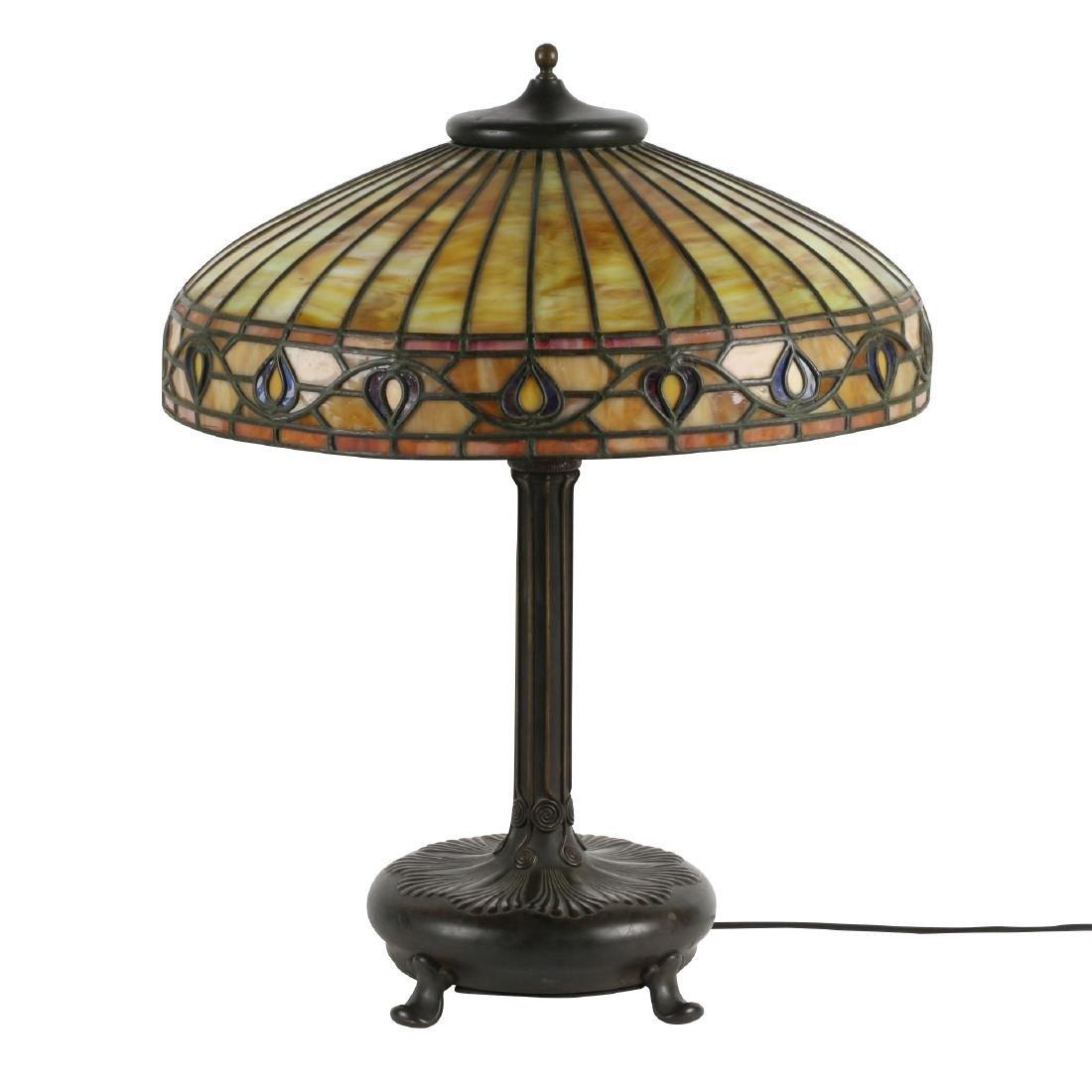 Chicago School Leaded Lamp