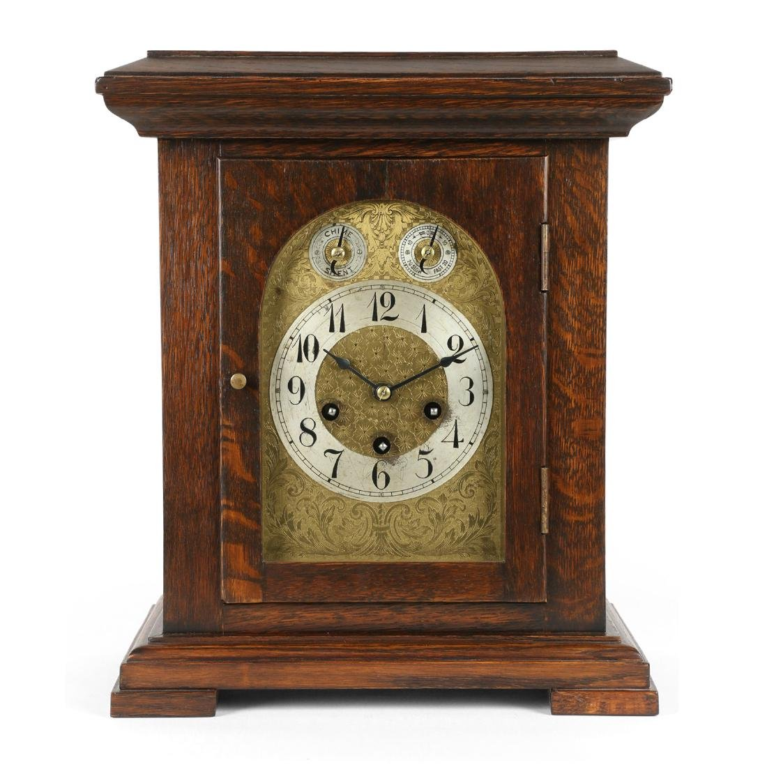Other Antique Furniture Antique French Marquetry Mahogany Mantle Clock C.1900 By Scientific Process Antique Furniture