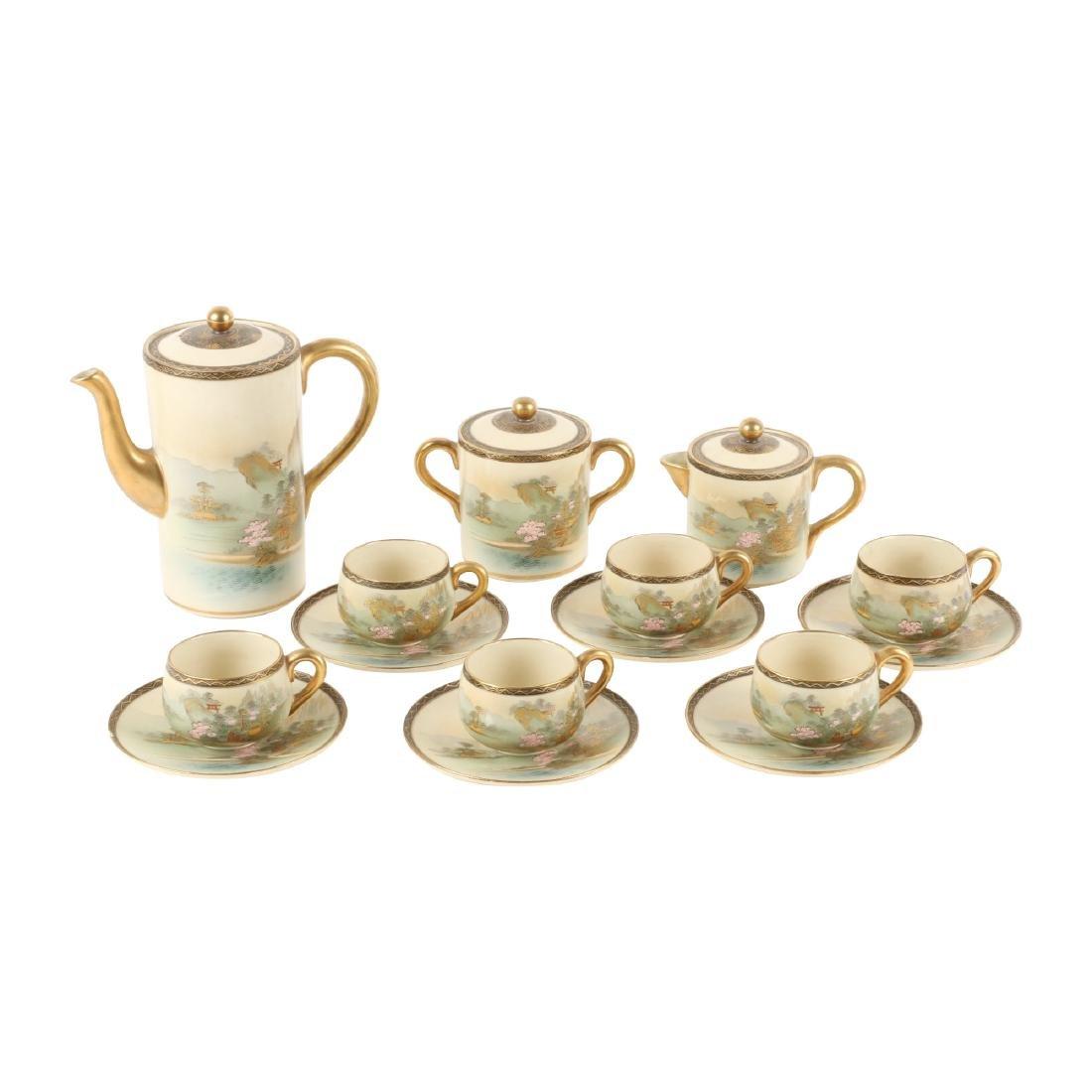 Fine Satsuma Tea Set