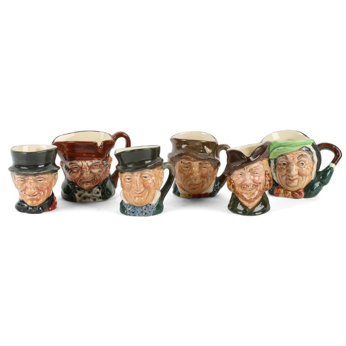 Miniature Doulton Character Mugs