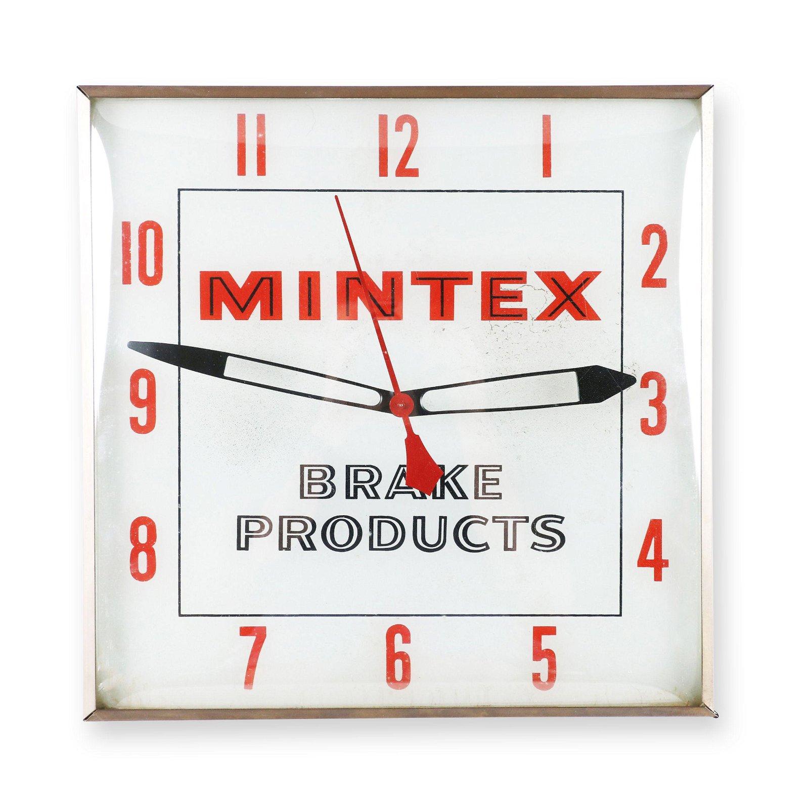 Mintex Brake Products Backlit Clock