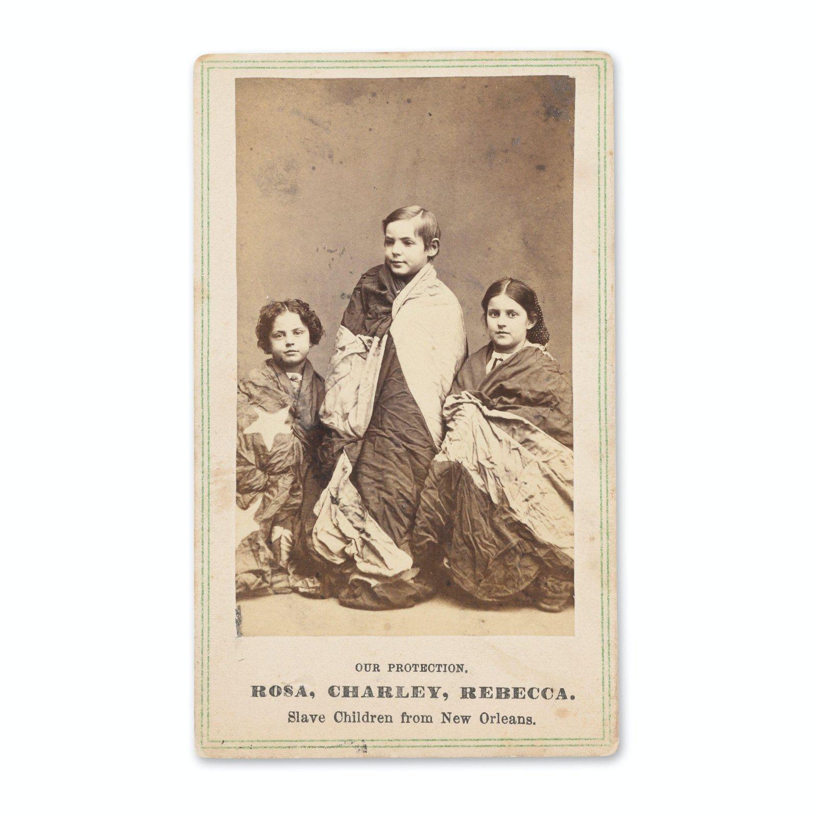 New Orleans Slave Children Carte De Visite