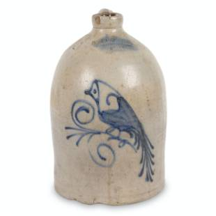 Flack & Van Arsdale Stoneware Bird Jug