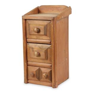 Small Primitive Pine Chest of Drawers